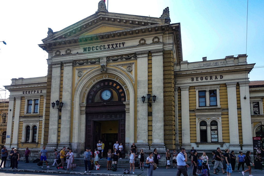 Белград: чучело главного вокзала