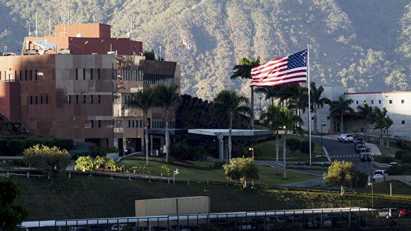 Территория посольства США в Каракасе. Архивное фото