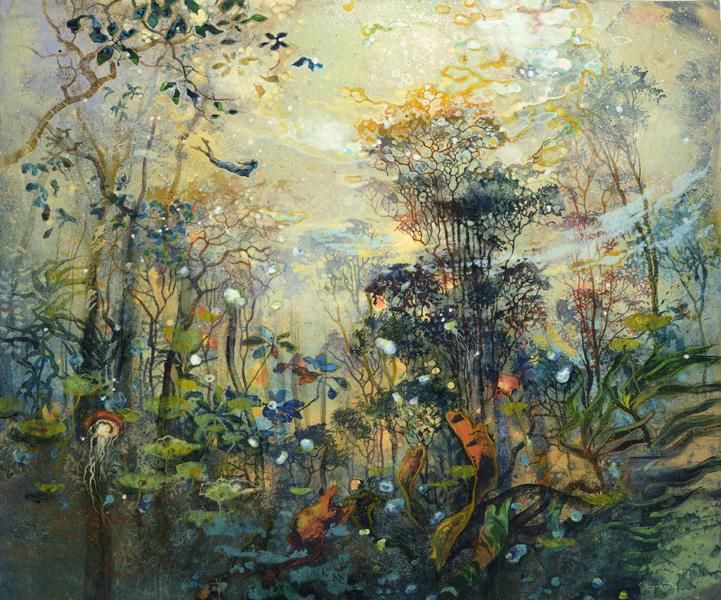 «Мой тихий сон, мой сон ежеминутный — невидимый, завороженный лес…» Французский художник Eric Roux-Fontaine