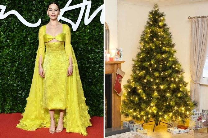 Одеты с иголочки звезды, как елочки: 13 модных образов знаменитостей и елки в том же стиле