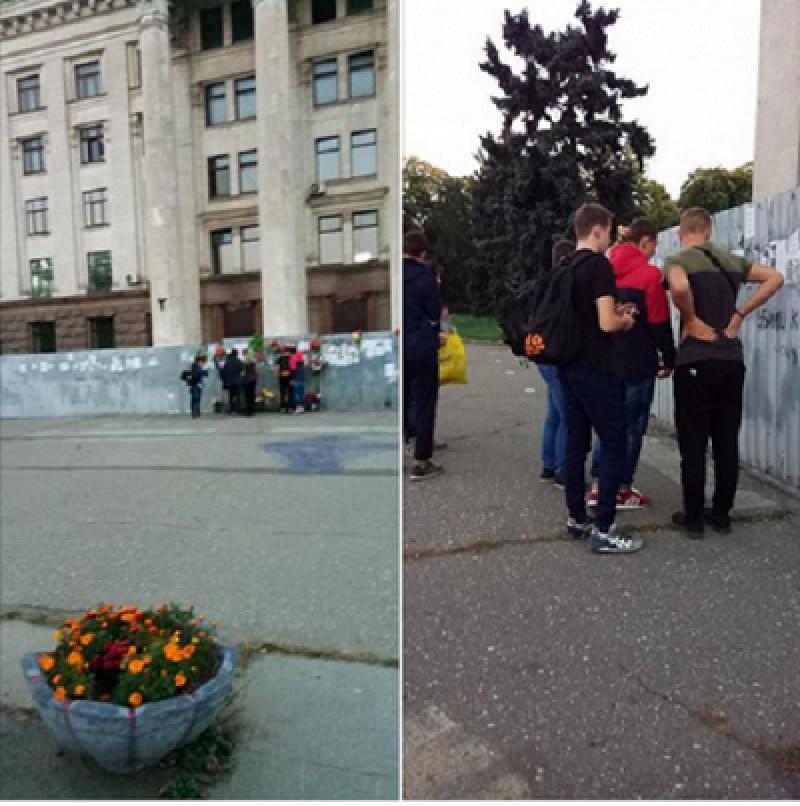 Мариупольцы в Одессе отдали дань памяти погибшим в Доме профсоюза