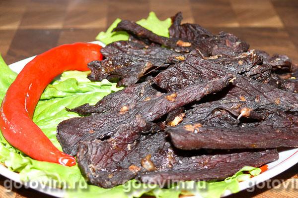 Острые говяжьи чипсы (закуска к пиву)