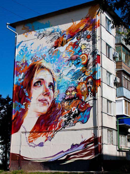 В Казани прошел фестиваль стрит-арта (44 фото)