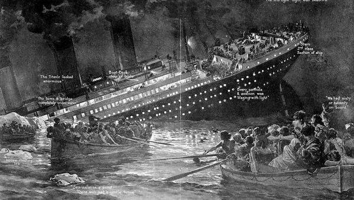 Спасение пассажиров Титаника.