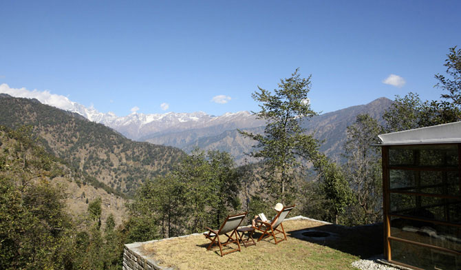 Уголок спокойствия в Гималаях.