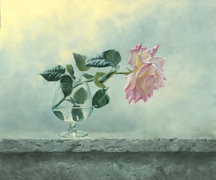 О ней поют поэты всех веков… Розы художника Алексея Антонова