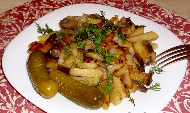Русские особенности жареной картошки