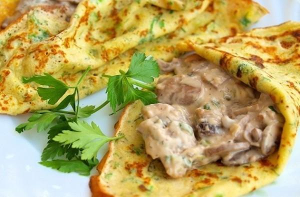 Грибы в сметане с омлетом вкусно, грибы, интересное, красиво, познавательно, полезно, рецепты