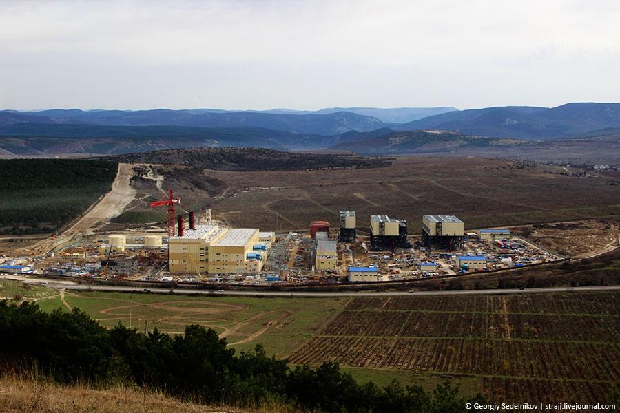 Как идёт строительство ТЭС под Севастополем (Фотофакт)