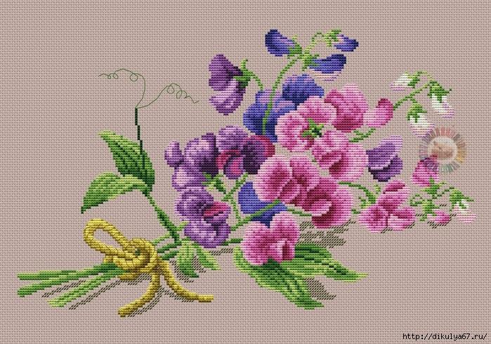 Схемы для красивой вышивки цветов