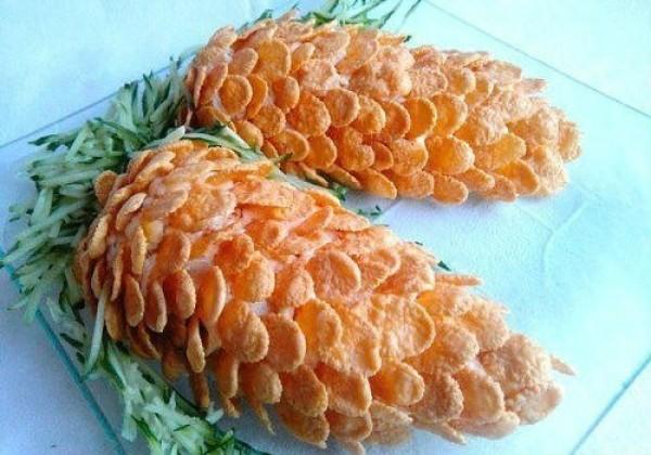 Новогодний салат «Шишки»