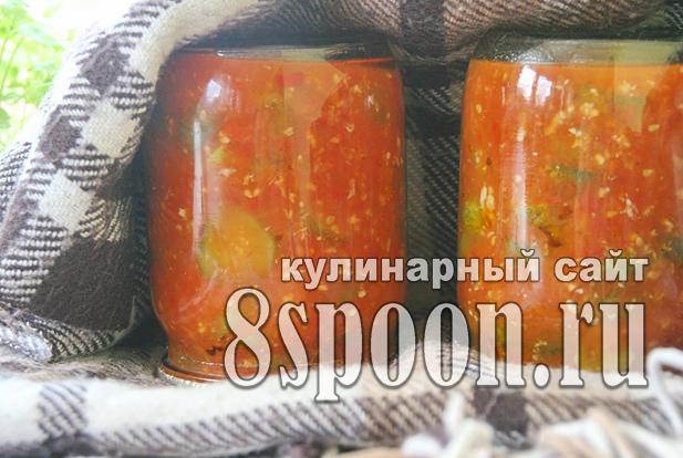 Огурцы в аджике на зиму рецепт с фото_12