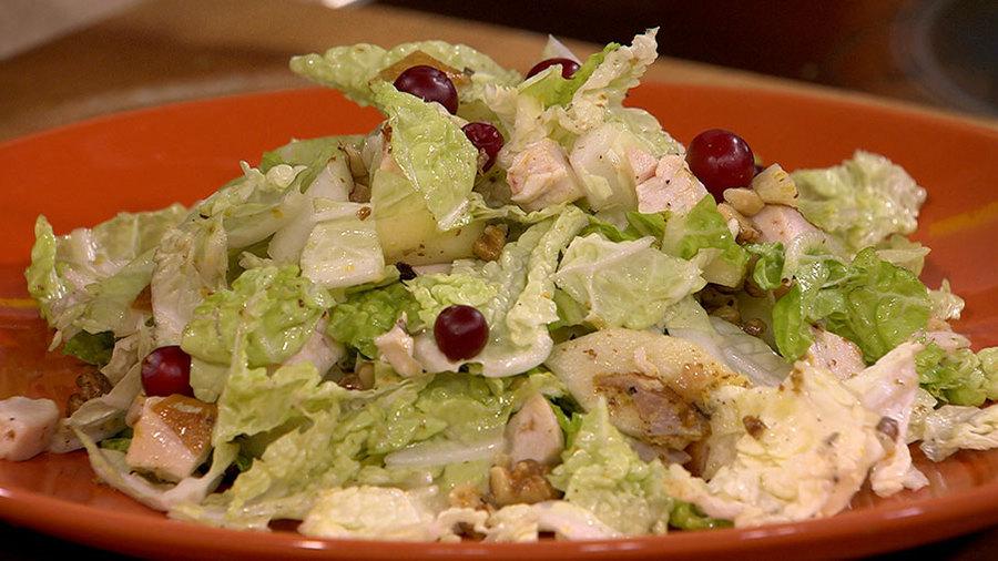 """Праздничный салат без майонеза """"Полезная красотка"""""""