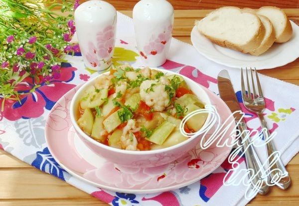 Овощное рагу из кабачков и ц…