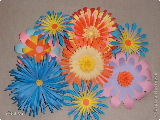 Как сделать цветы в детский сад