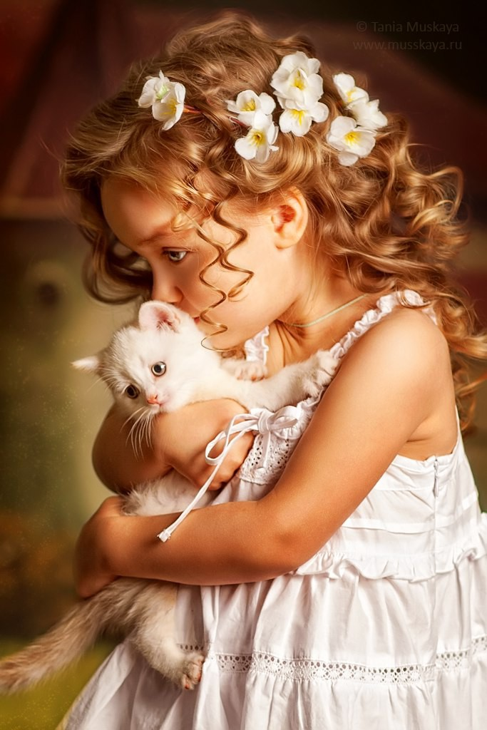 Фотохудожник Татьяна Мусская Татьяна Мусская, дети и животные, животные, коты, собаки хаски, фото детей