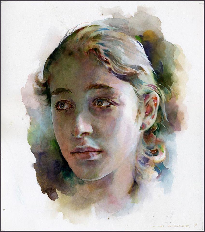 Мастер класс рисуем акварелью портрет - Solbatt.ru