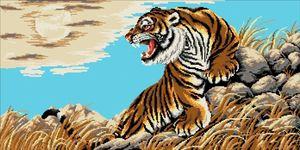 """Схема для вышивания бисером """"Тигр в горах"""" от Е.Щечилиной"""