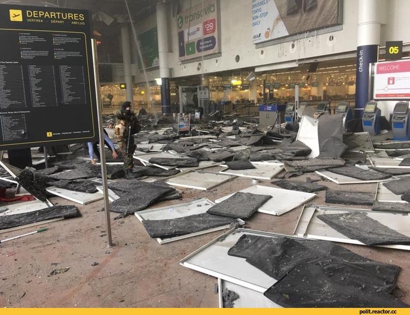 Взрыв в аэропорту бельгии