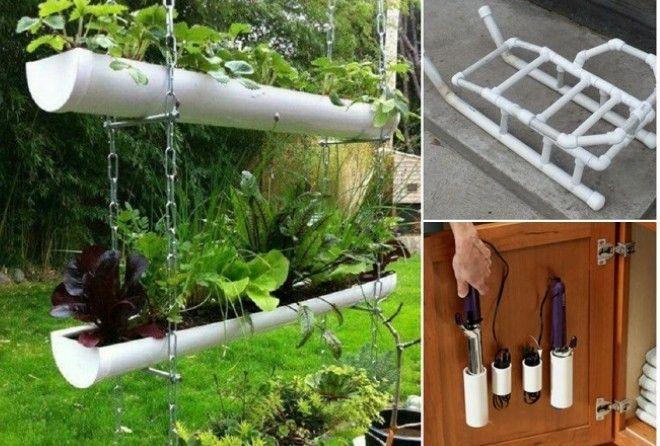20+ полезных идей, как использовать ПВХ трубы не только для ремонта