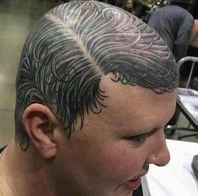 Тату волосы
