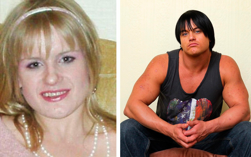 Женщины-спортсменки до и после стероидов
