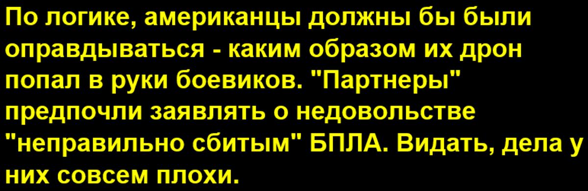 США выразили недовольство России в связи со сбитым американским беспилотником в Сирии (Хмеймим)