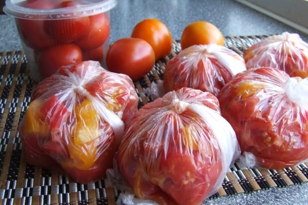 Как правильно замораживать помидоры на зиму
