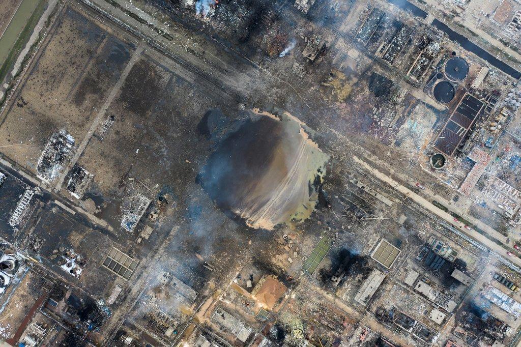 Последствия взрыва в Янчэне