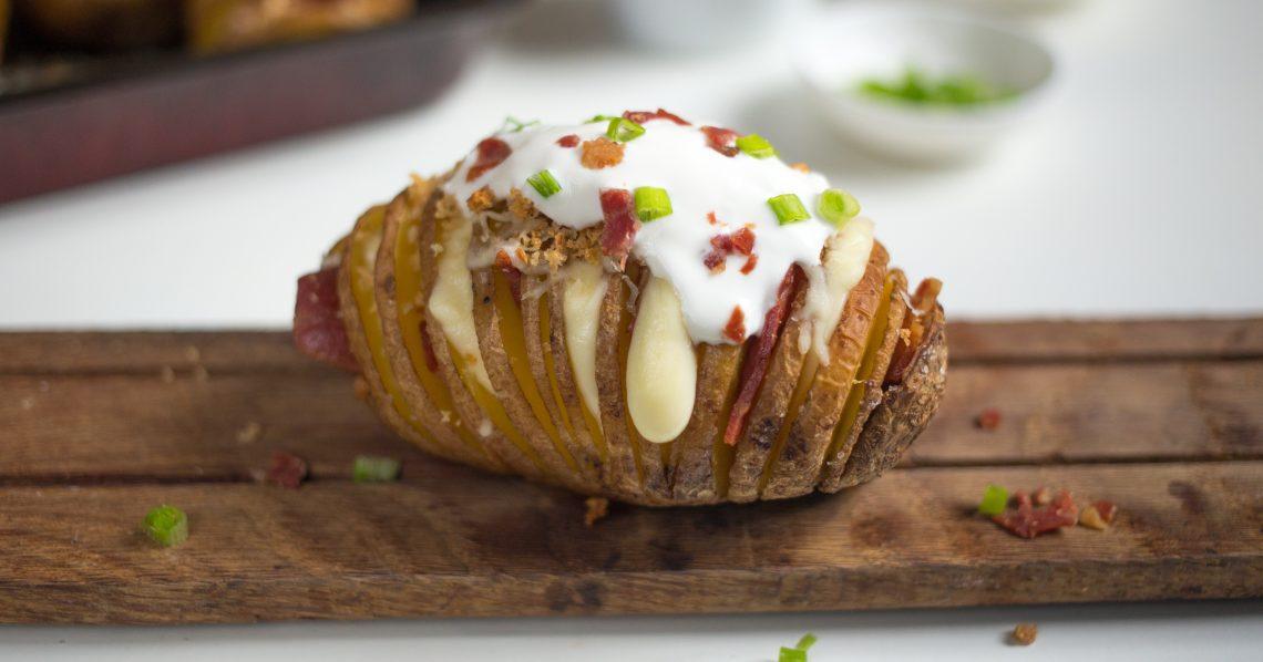 картофель хассельбек: нарезание картошки