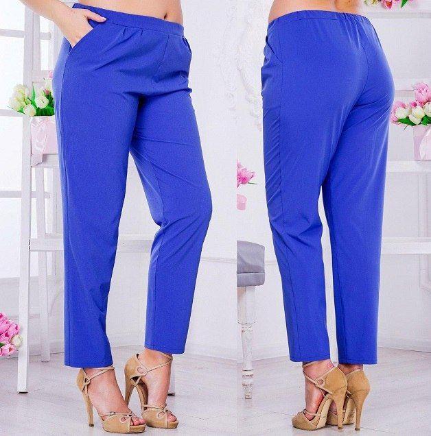 Укороченные брюки с высокой посадкой и поясом на резинке