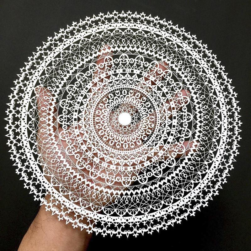 Мандала с 21 кругами Мандалы, бумага, зентангл, художник