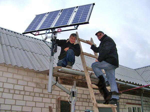 Как сделать солнечную батарею домов