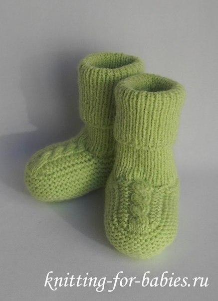 ВЯЖЕМ. Пинетки-носочки