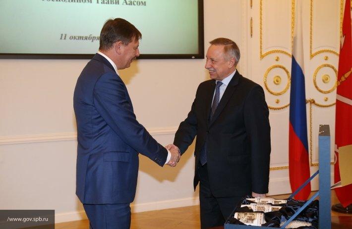 Александр Беглов встретился в Смольном с мэром Таллина Таави Аасом