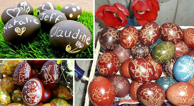 Красим яйца на пасху - 18 способов