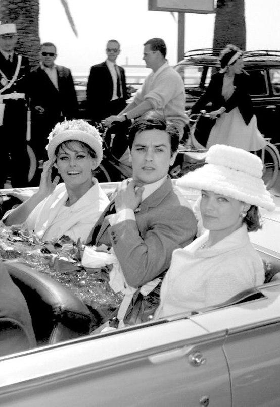 Роми Шнайдер, Ален Делон и Софи Лорен (1962)