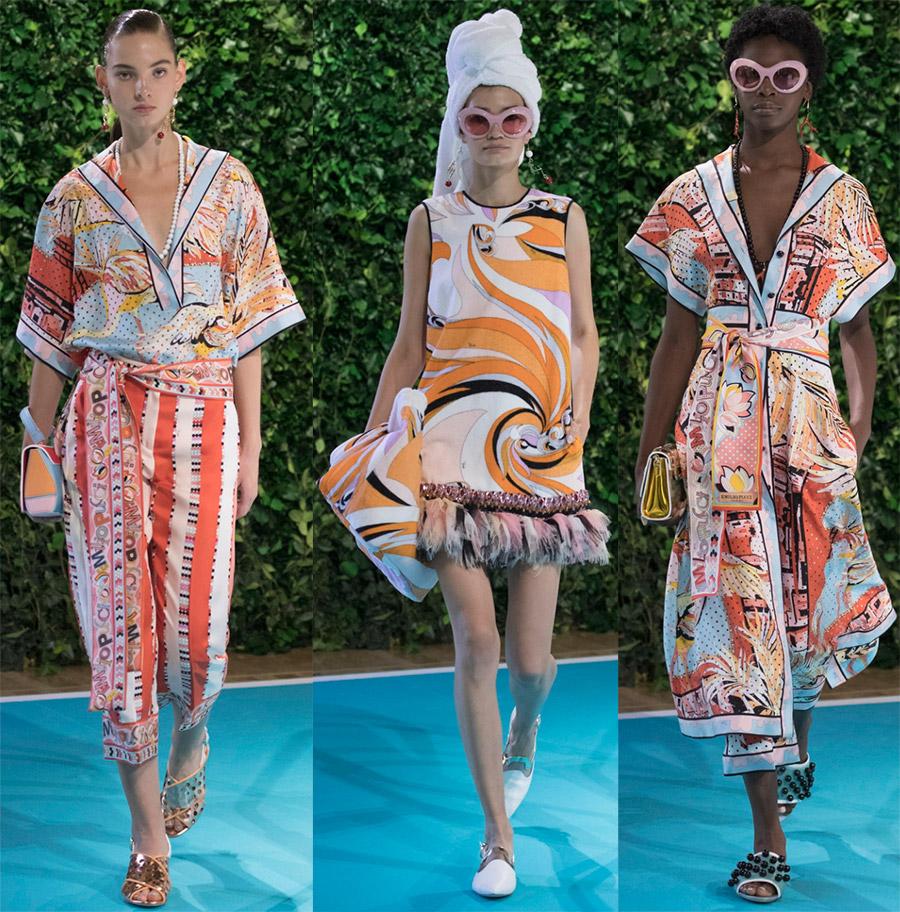 Летняя коллекция 2018 от Emilio Pucci — ярко, легко и очень женственно