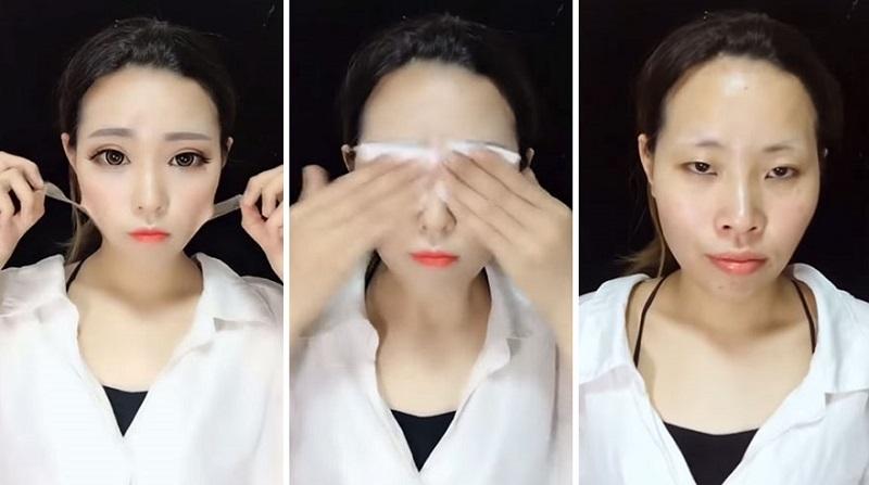 Азиатки показали процесс снятия макияжа. 20 фото, после которых вы перестанете верить людям!