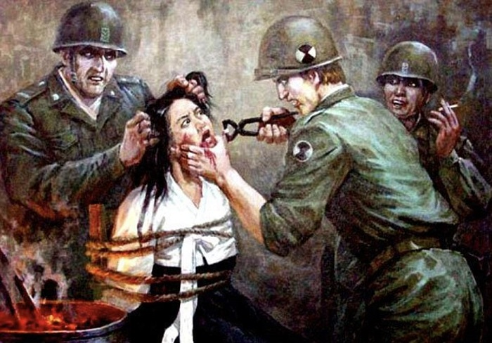 Антиамериканская пропаганда в Северной Корее: 15 кошмарных агитационных плакатов из КНДР