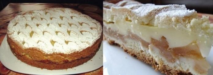 Яблочный пирог с нежным пудинговым кремом: просто великолепный!