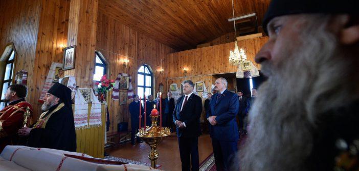 Порошенко и Лукашенко помолились за мир и благоденствие