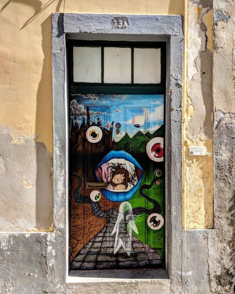 12. дверь, картина, мадейра, португалия, путешествие, фотография, фотомир