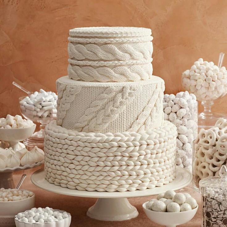 Вязаный торт
