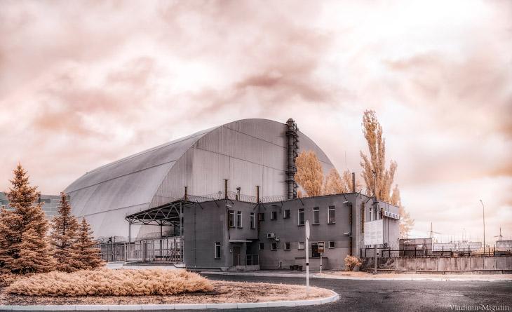 Саркофаг атомной электростанции