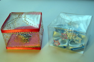Упаковка-коробочка из пластиковой бутылки