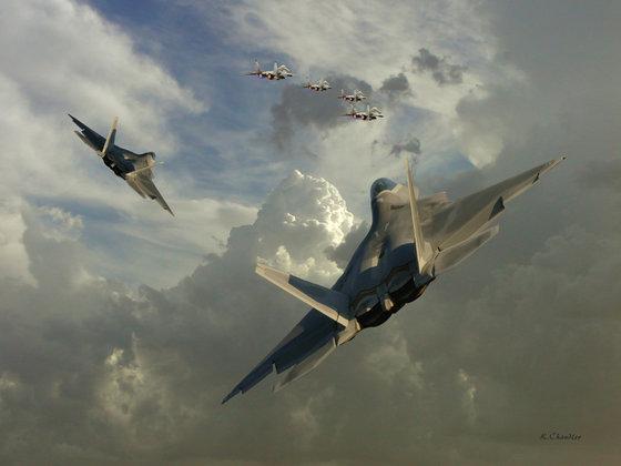 Пентагон возмущен: Су-27 снова не пустил самолет-разведчик в Россию