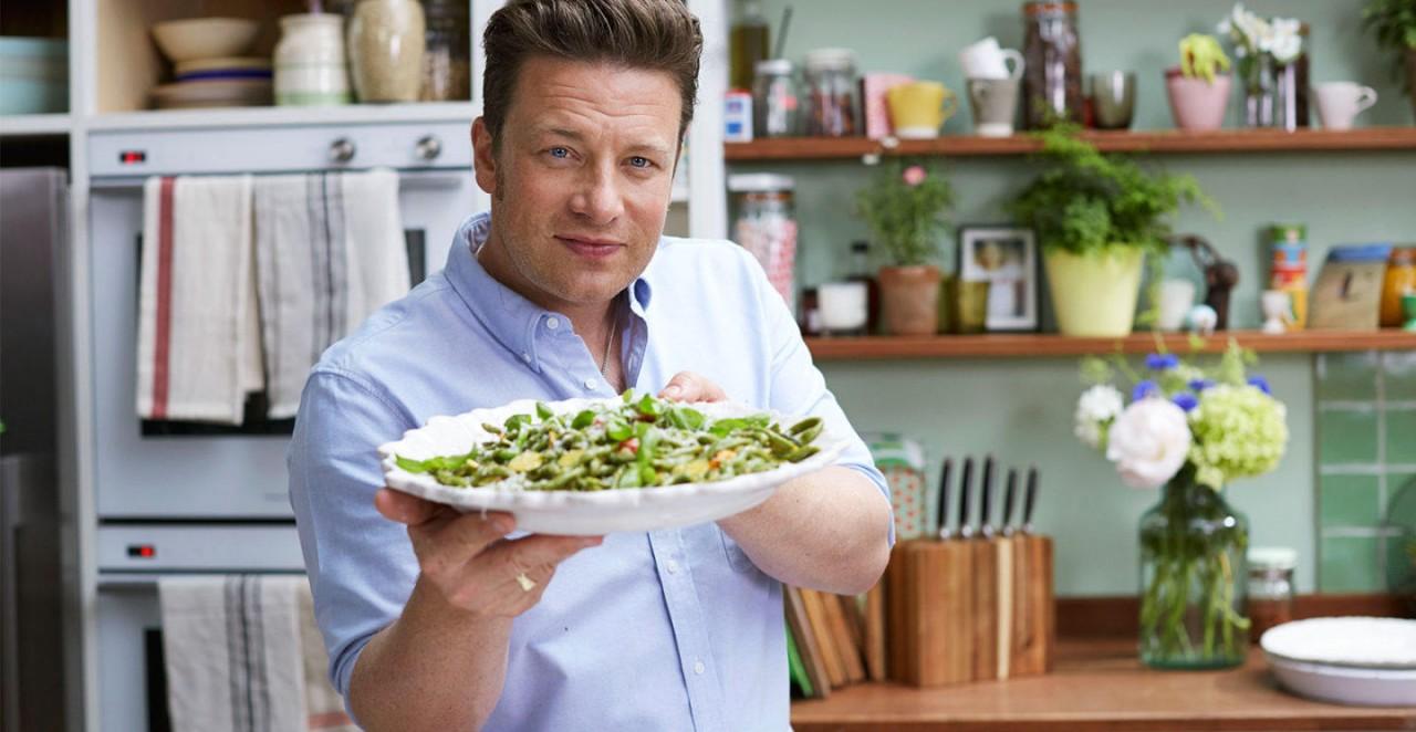 3 салата с овощами гриль от Джейми Оливера