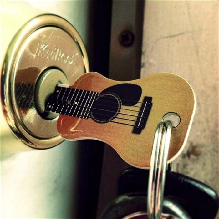 Ключ в виде гитары.