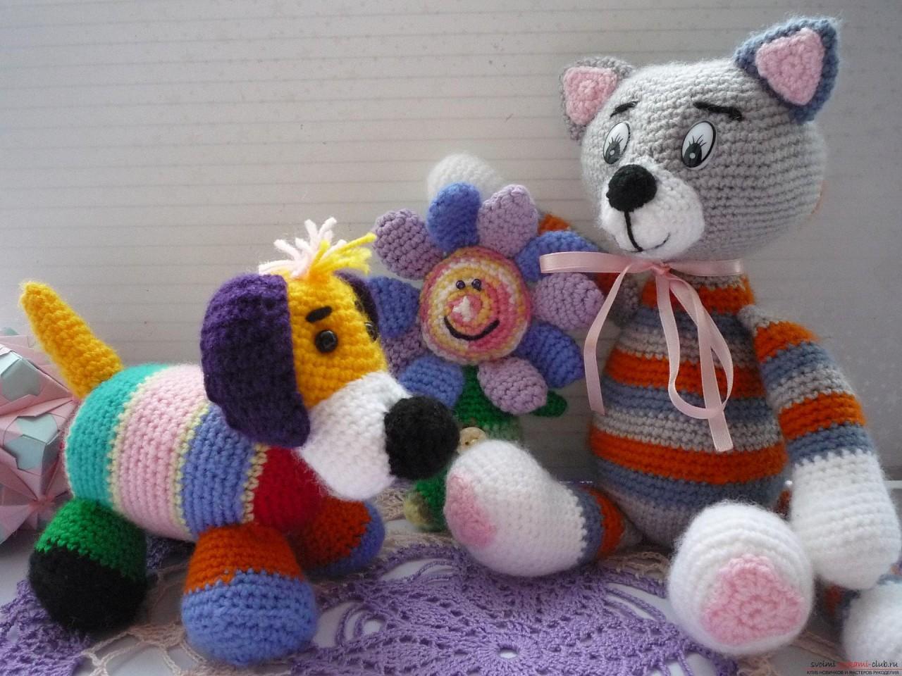 По нашему подробному мастер-классу вязания крючком игрушки получается полосатый вязаный кот.. Фото №28